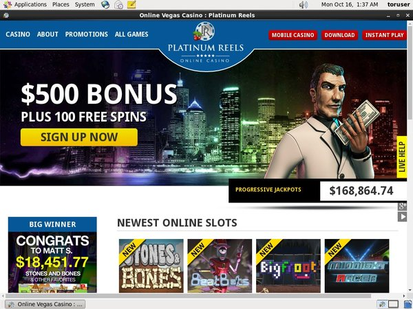 Platinumreels Bonus Offer