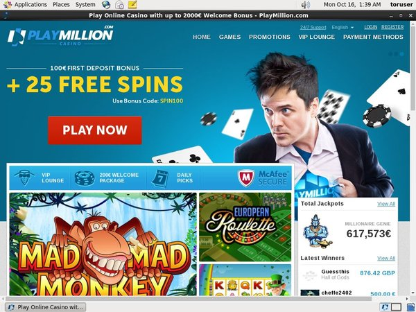 Play Million Opening Offer