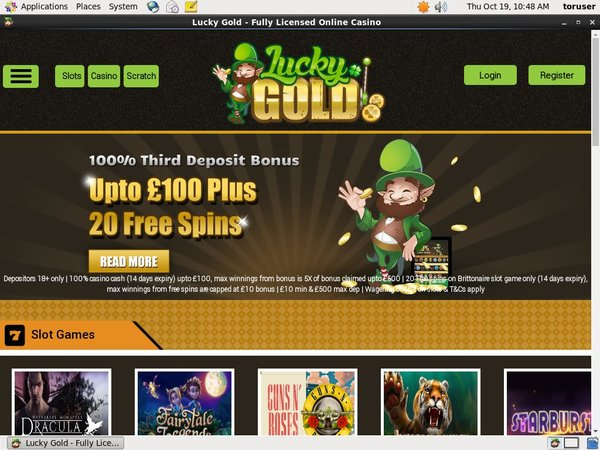 Register For Lucky Gold