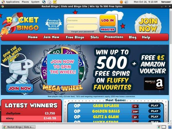 Rocket Bingo Bonus Uk