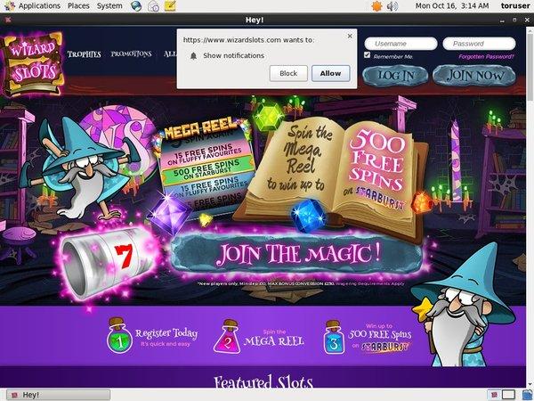 Wizard Slots Depósito