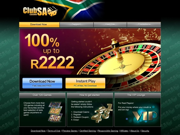 Club SA Casino Cash Back