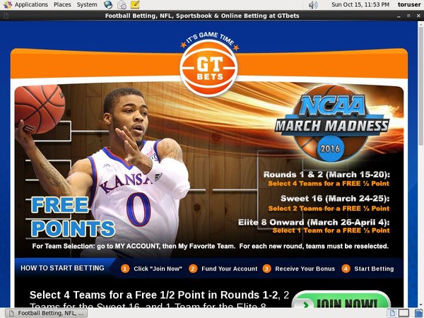 GT Bets March Madness Join Page