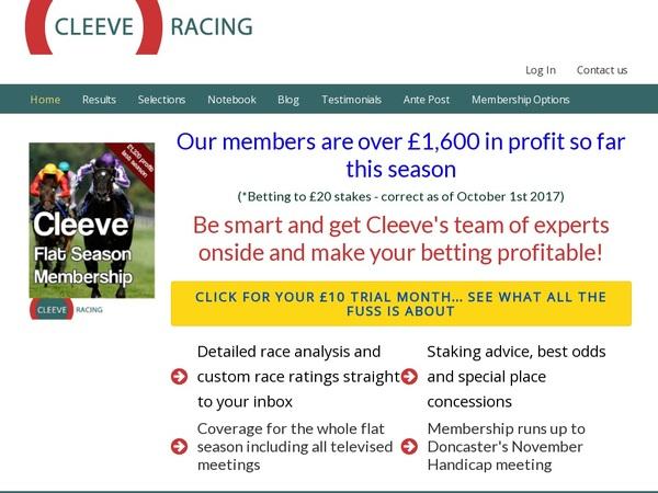Cleeve Racing Bonus Rules