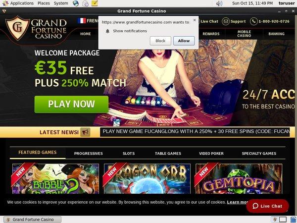 Grand Fortune Casino Transfer